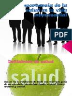 Diapositiva de La Salud en La Vida Empresarial