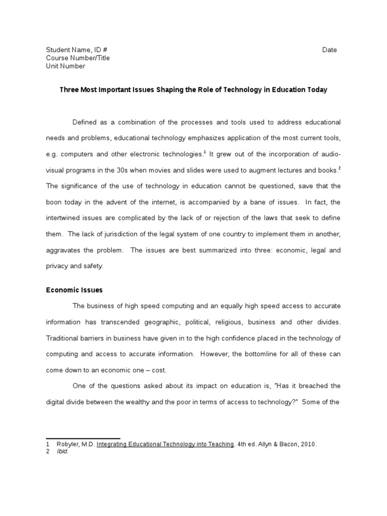 Three Contemporary Issues in Educational Technology | Copyright
