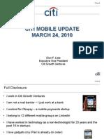 CITI Mobile Update March 2010