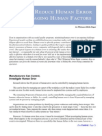 How to Reduce Human Error by Managing Human Factors-White-Paper[1]