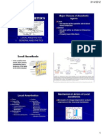Local and General Anesthetics