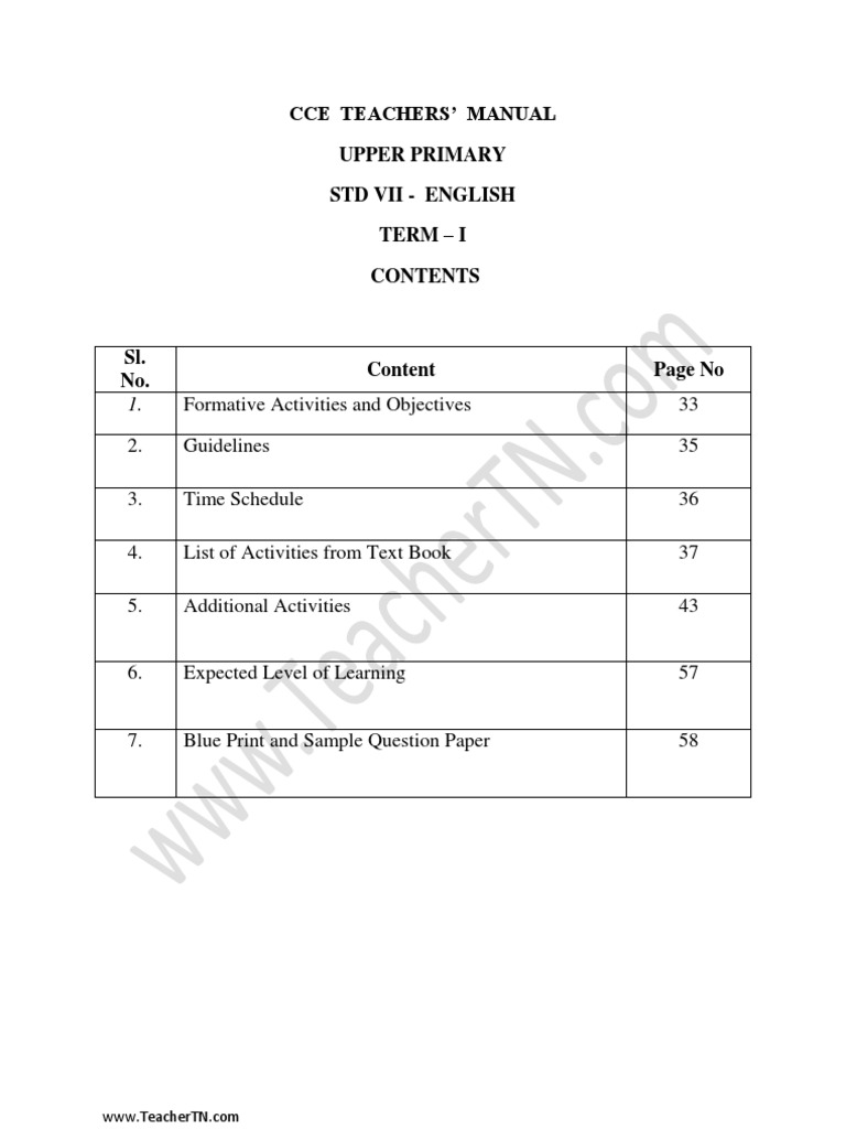 Std 7 English   Educational Assessment   English Language