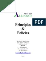 Alberta Alliance Policies 2006 (not in effect)