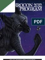 Anthrocon 2012 Pocket Program