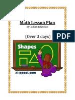 math lesson plan day 1