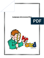 language arts lesson plan title page