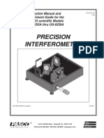 Precision Interferometer Manual OS 9255A