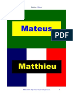 Evangelho de Mateus Bilingue Francês Português PDF