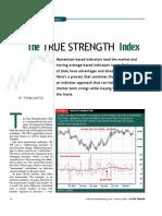 True Strength Index