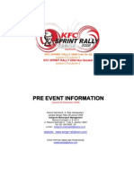 Pre Event Information Kfc Sprint Rally Putaran 2&3