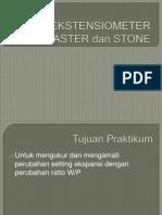 Uji Ekstensiometer Gips Stone Dan Investment Sgd 6