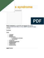 Reye Syndrome