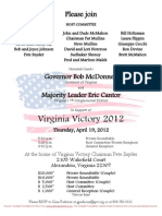 Private Roundtable & Reception for Virginia Victory 2012