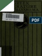 Greek Literature Tillyard j h w