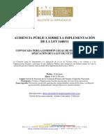 Convocatoria Audiencia Pública CLSLV (13-jun-2012)