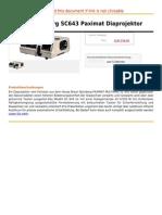 Braun-Nuernberg SC643 Paximat Diaprojektor