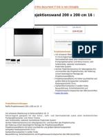 Hama Rollfix-Projektionswand 200 x 200 Cm 16 9