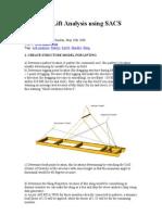Structure Lift Analysis Using SACS Program