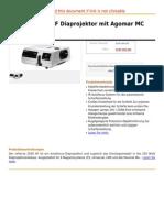 Reflecta 2500 AF Diaprojektor Mit Agomar MC 2.8 90 Mm