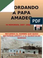 Recordando a Papa Amadeo