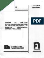 3539-99 Ie Cableado Estructurado Covenin
