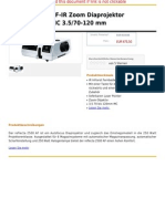 Reflecta 2500 AF-IR Zoom Diaprojektor Vario-Agomar MC 3.5 70-120 Mm