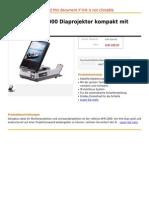 Reflecta AFM 2000 Diaprojektor Kompakt Mit Bildschirm