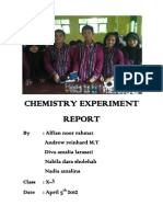 Chemistry Experiment Report