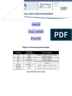 orientaões para paper fastpaper e poster