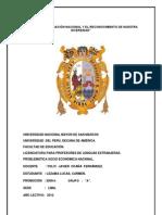 AÑO  DE LA INTEGRACIÒN NACIONAL Y EL RECONOCIMIENTO DE NUESTRA DIVERSIDAD