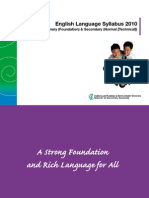 English Primary Foundation Secondary Normal Technical