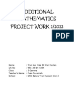 Additional Mathematics Project Work 1/2012