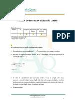 Regressão Linear no SPSS - descrição dos quadros