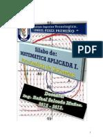 Silabo Matematica i Analisis Ismael