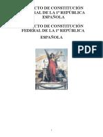 PROYECTO DE CONSTITUCIÓN FEDERAL DE LA REPÚBLICA ESPAÑOLA