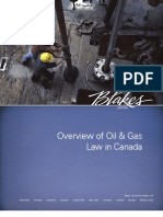 Overview of O&G Law in Canada