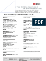 DB Speisekarte Gruppenreisen Juni 2012