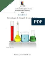 Relatório de Fisíco-química