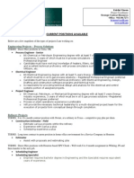 Current Positions June 2012