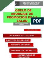 Modelo de Abordaje de Promocion de La Salud Nov 2011