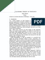 Economic Theory of Insurance