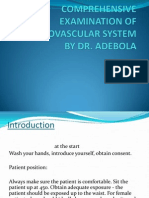 Comprehensive Examination of Cadiovascular System