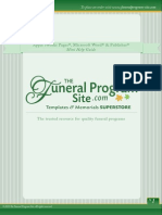 How To Edit A Funeral Program Template for Word, Publisher, Apple iWork Pages