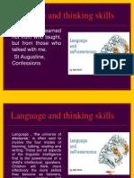 Language and Thinking Skills