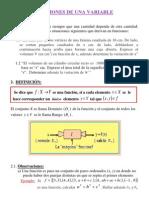 TEMA - Funciones de Una Variable