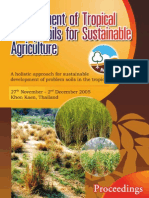 Management of Tropical Sandy Soils for Sustainable Agriculture