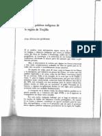 Algunas palabras indígenas de la región deTrujillo (1975)