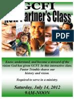 New Partners Class 7-14-12