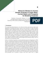 Vasconcelos(2012)Molecular Markers to Access Genetic Diversity of Castor Bean