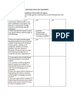 Language Access Plan Self Assessment